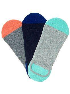 Pack de 3 pares de calcetines invisibles