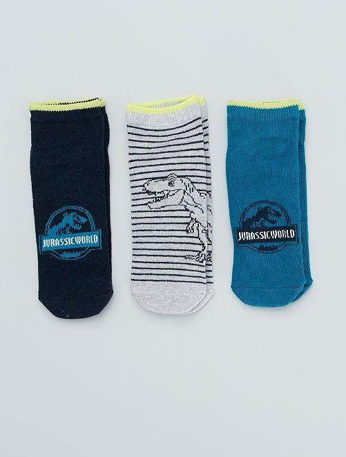 Pack de 3 pares de calcetines 'Jurassic world'                             BLANCO