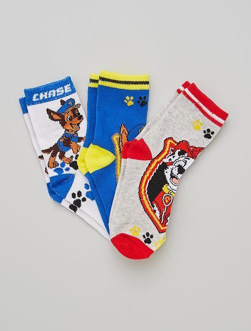 Pack de 3 pares de calcetines 'La Patrulla Canina'                                         AMARILLO