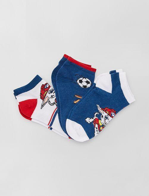 Pack de 3 pares de calcetines 'La Patrulla Canina'                     AZUL