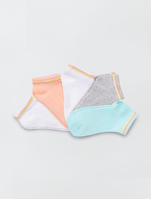 Pack de 3 pares de calcetines lisos                                         BLANCO