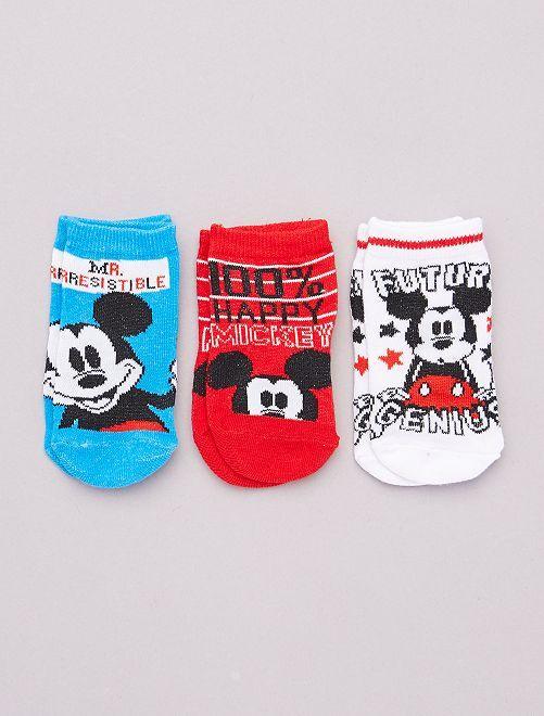 Pack de 3 pares de calcetines 'Mickey' 'Disney'                                         BLANCO