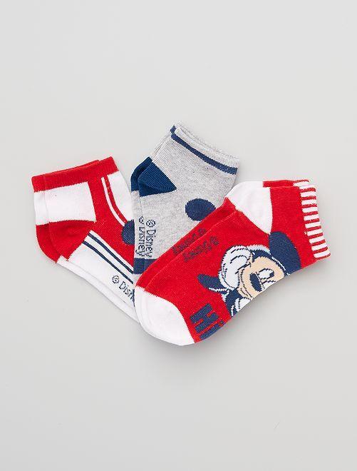 Pack de 3 pares de calcetines 'Mickey' 'Disney'                                         NEGRO