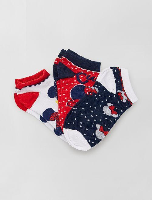 Pack de 3 pares de calcetines 'Minnie' 'Disney'                                         BLANCO