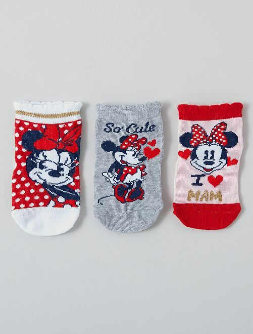 Pack de 3 pares de calcetines 'Minnie' 'Disney'                     GRIS