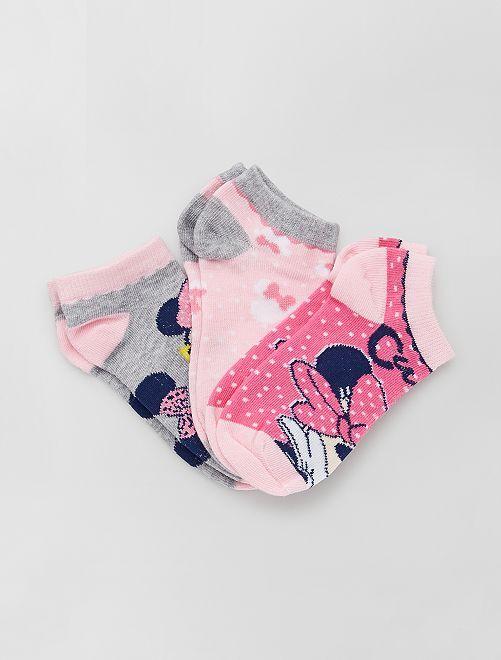 Pack de 3 pares de calcetines 'Minnie' 'Disney'                                         ROSA