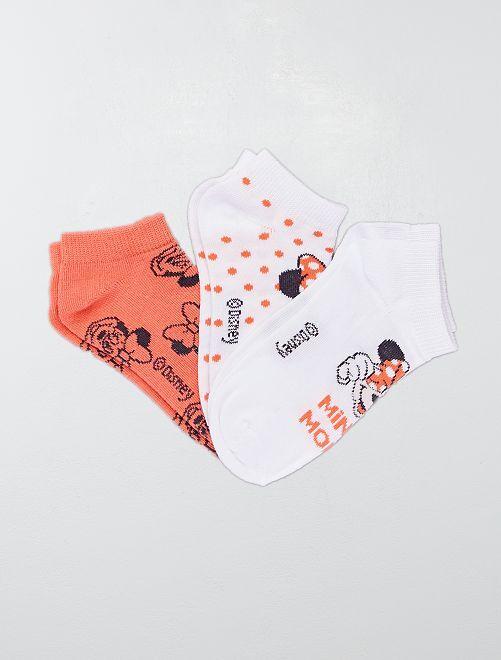 Pack de 3 pares de calcetines 'Minnie'                             ROSA