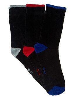 Hombre Pack de 3 pares de calcetines