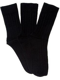 Hombre - Pack de 3 pares de calcetines - Kiabi