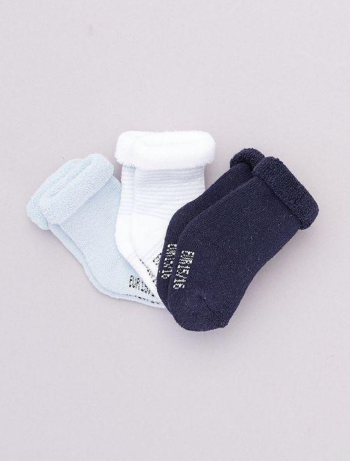 Pack de 3 pares de calcetines para bebé                                                                 AZUL