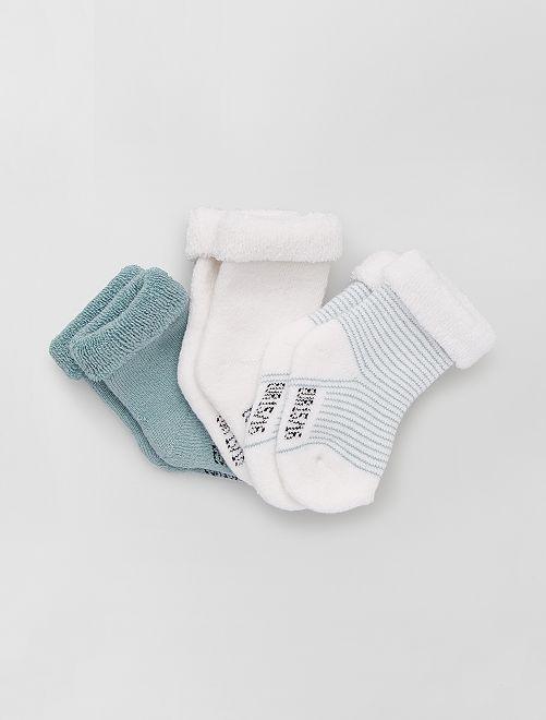 Pack de 3 pares de calcetines para bebé                                                                             GRIS