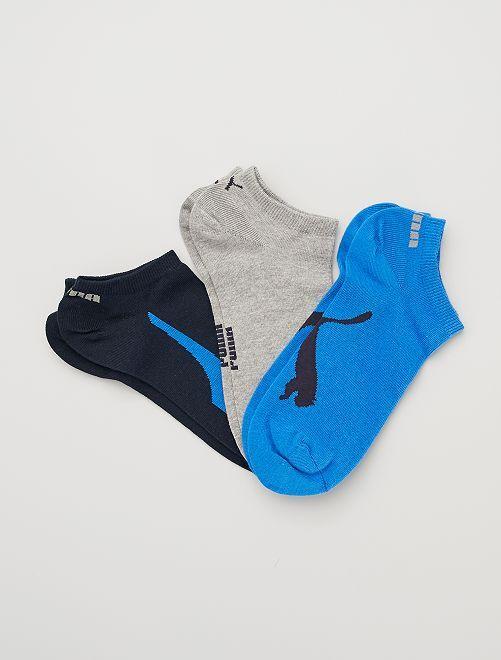 Pack de 3 pares de calcetines 'Puma'                                                     AZUL