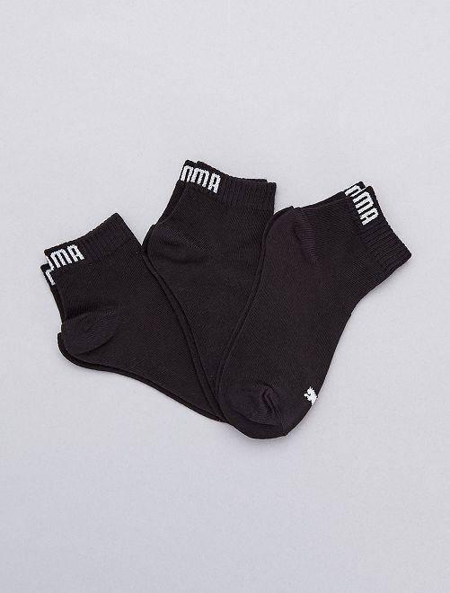 Pack de 3 pares de calcetines 'Puma' de caña corta                                                                                         NEGRO