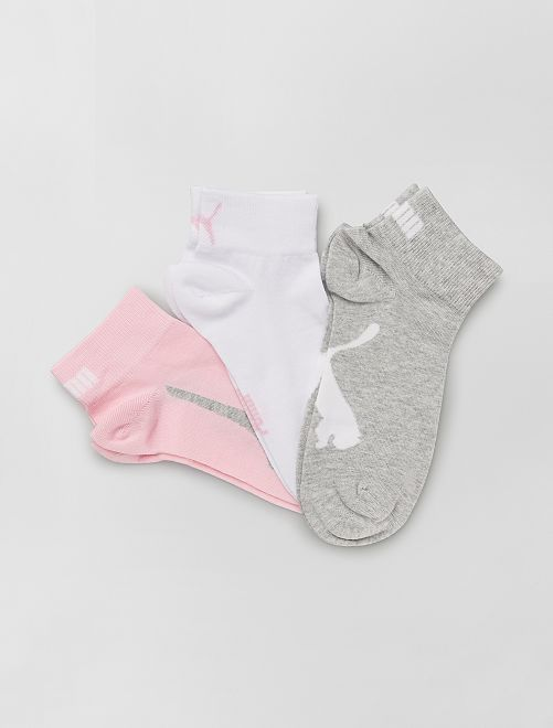 Pack de 3 pares de calcetines 'Puma'                                                                 ROSA