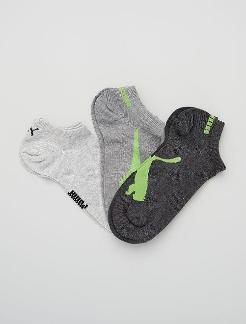 Pack de 3 pares de calcetines 'Puma'                                                                 VERDE