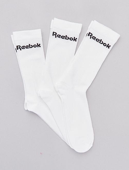 Pack de 3 pares de calcetines 'Reebok'                             BLANCO