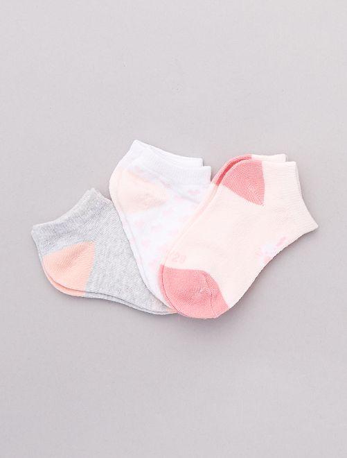 Pack de 3 pares de calcetines                             ROSA Bebé niña