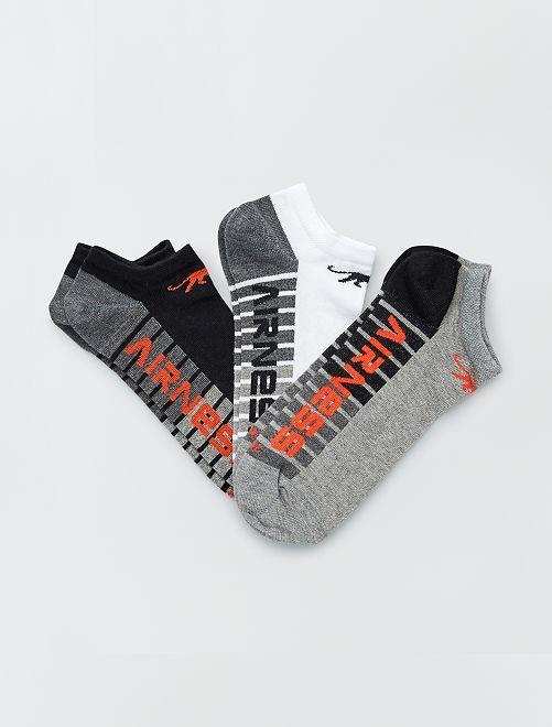 Pack de 3 pares de calcetines tobilleros 'Airness'                                                     GRIS