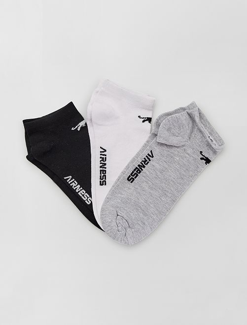 Pack de 3 pares de calcetines tobilleros 'Airness'                                                     NEGRO