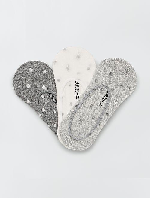Pack de 3 pares de calcetines tobilleros                                                                 blanco/GRIS