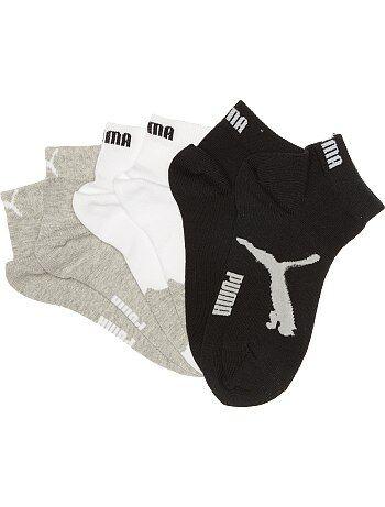 Pack de 3 pares de calcetines tobilleros 'Puma' - Kiabi