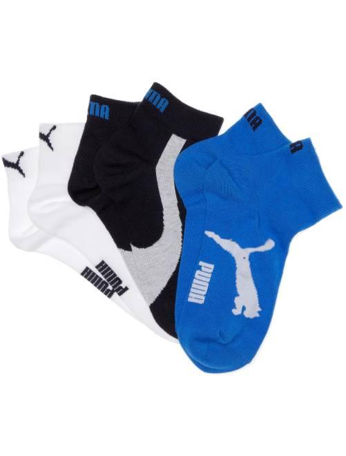Pack de 3 pares de calcetines tobilleros 'Puma'                                         marino/blanco/azul