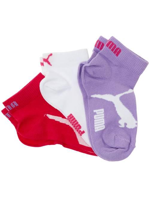 Pack de 3 pares de calcetines tobilleros 'Puma'                                                     ROSA Joven niño