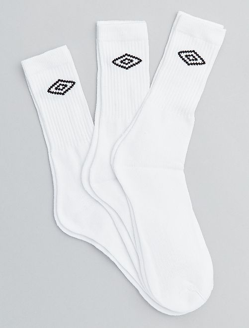 Pack de 3 pares de calcetines 'Umbro'                             BLANCO Hombre