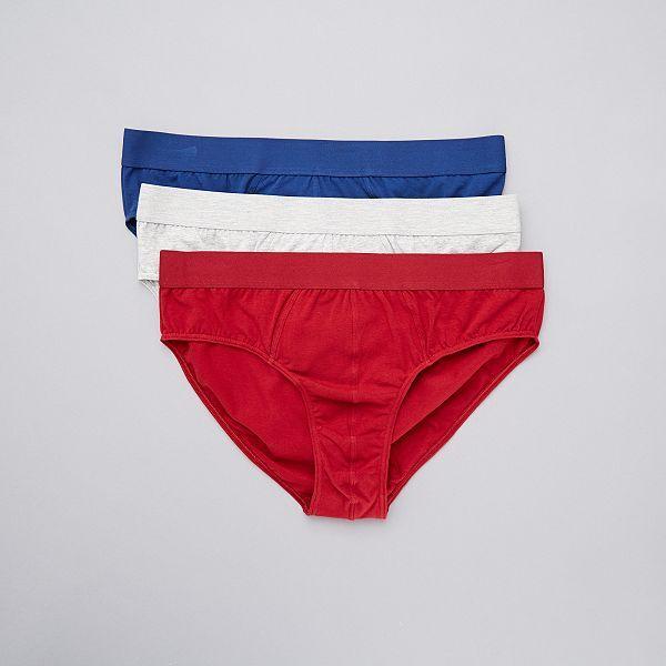 Pack De 3 Slips Eco Concepcion Size Tallas Grandes Hombre Rojo Kiabi 12 00