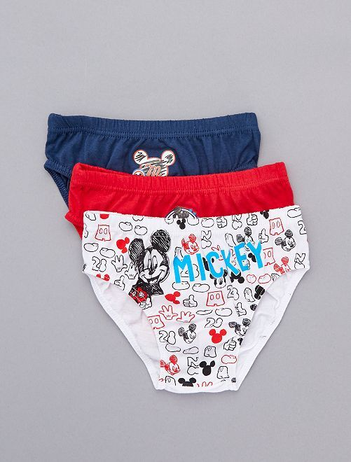 Pack de 3 slips 'Mickey'                             AZUL Chico