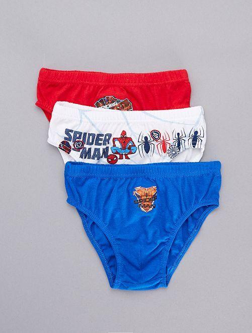 Pack de 3 slips 'Spider-Man'                             AZUL Chico