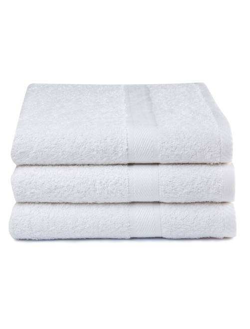 Pack de 3 toallas de algod n puro hogar blanco kiabi 22 00 - Toallas de algodon ...