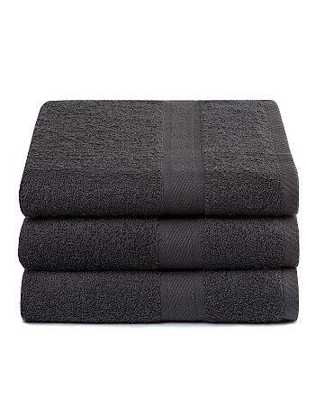 Pack de 3 toallas de algodón puro - Kiabi
