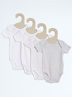Niño 0-36 meses Pack de 4 bodies de algodón