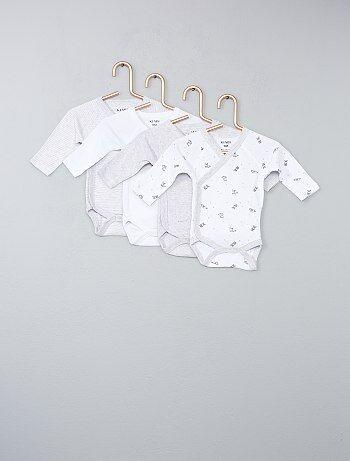 Pack de 4 bodies de algodón puro - Kiabi