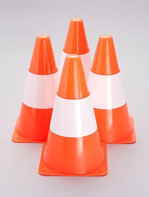 Pack de 4 conos de señalización                             naranja