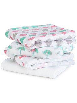 Niño 0-36 meses Pack de 4 mantas para bebé con estampado de fantasía