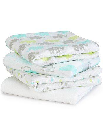 Niño 0-36 meses - Pack de 4 mantas para bebé con estampado de fantasía - Kiabi