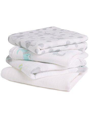 Niña 0-36 meses - Pack de 4 mantas para bebé 'Disney Baby' - Kiabi