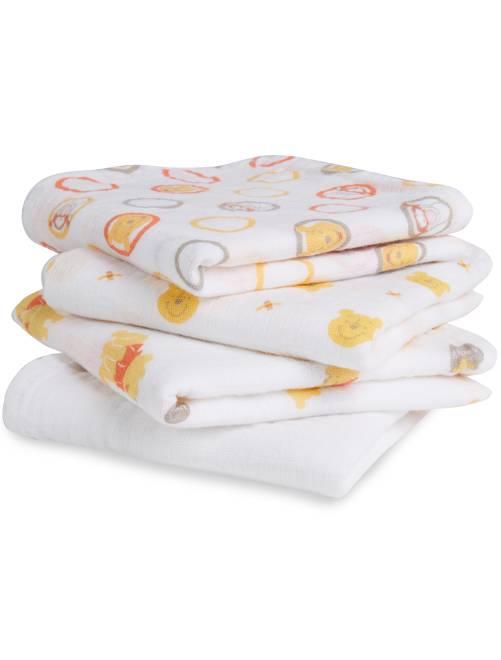 Pack de 4 mantas para bebé 'Disney Baby'                                                                 WINNIE Bebé niño
