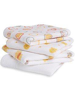 Puericultura - Pack de 4 mantas para bebé 'Disney Baby' - Kiabi