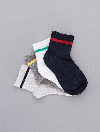 19ffa6c174f Pack de 4 pares de calcetines con raya - Kiabi