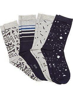 Pack de 4 pares de calcetines estampados