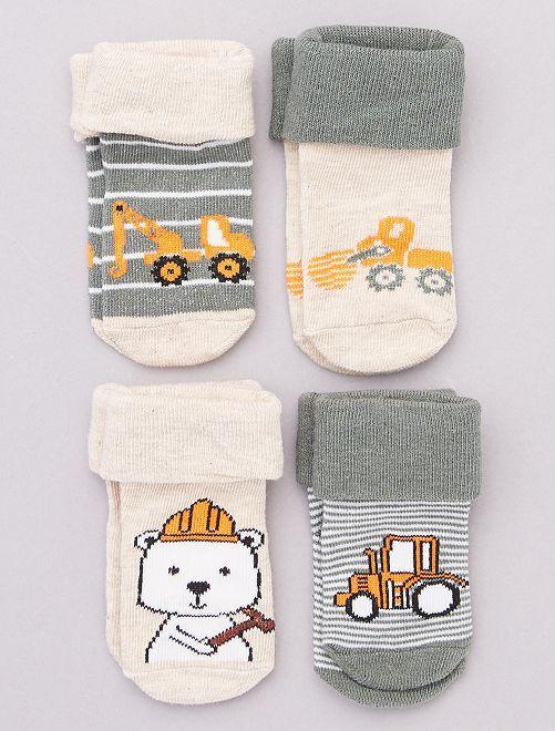 Pack de 4 pares de calcetines                                         gris