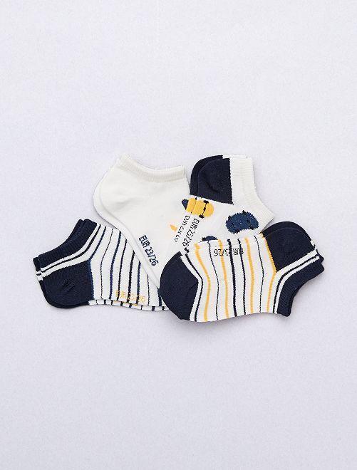 Pack de 4 pares de calcetines invisibles                             BLANCO Chico