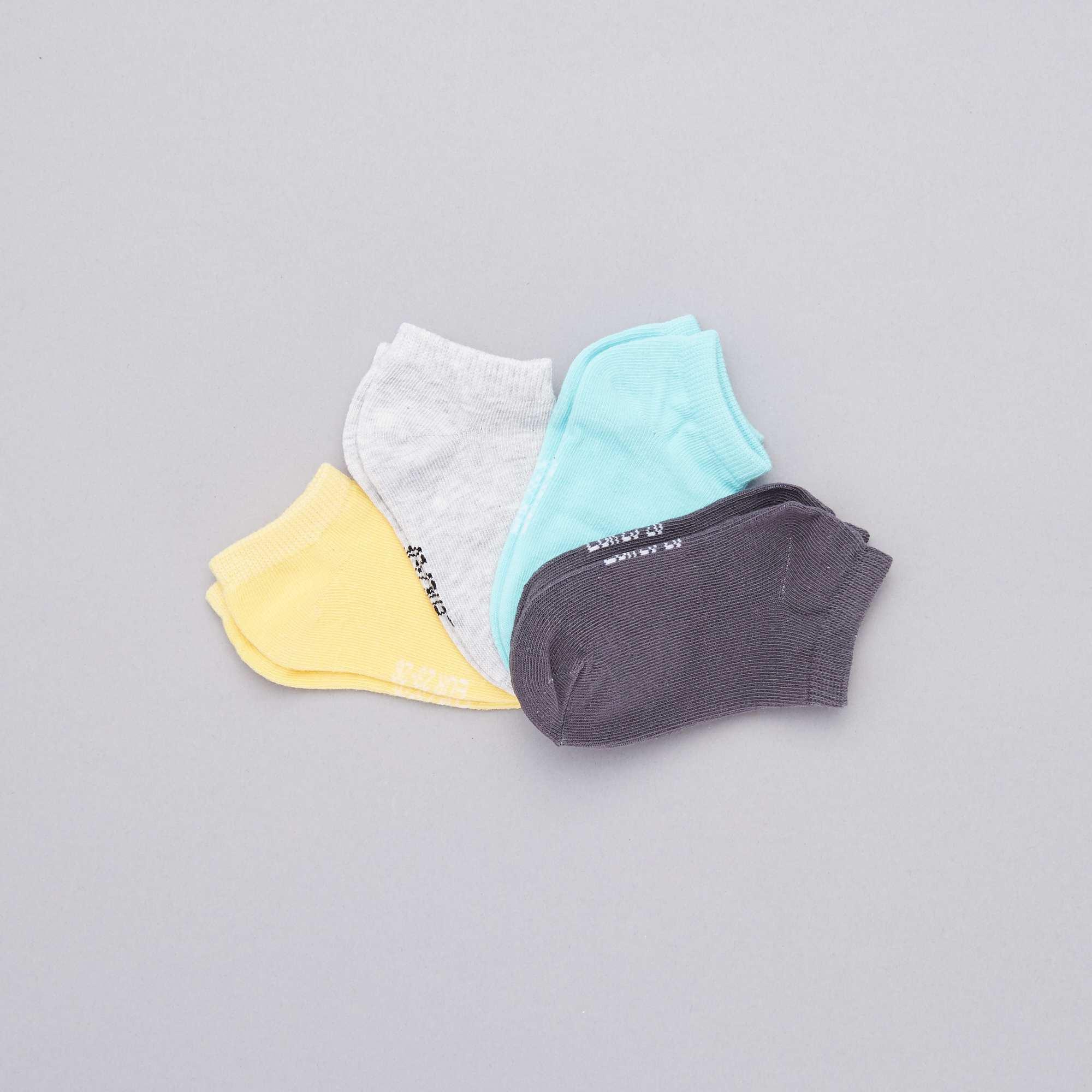 e8a658eede8 Pack de 4 pares de calcetines invisibles Chico - GRIS - Kiabi - 4