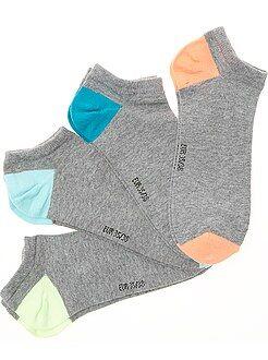 Niño 10-18 años - Pack de 4 pares de calcetines invisibles - Kiabi