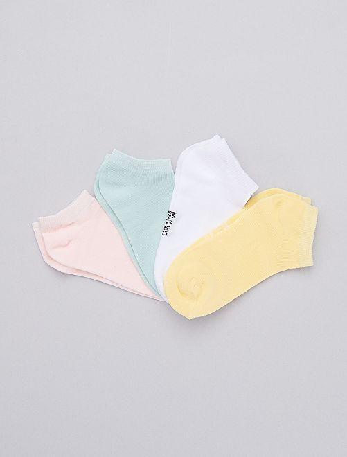 Pack de 4 pares de calcetines invisibles                                         multicolor Chica