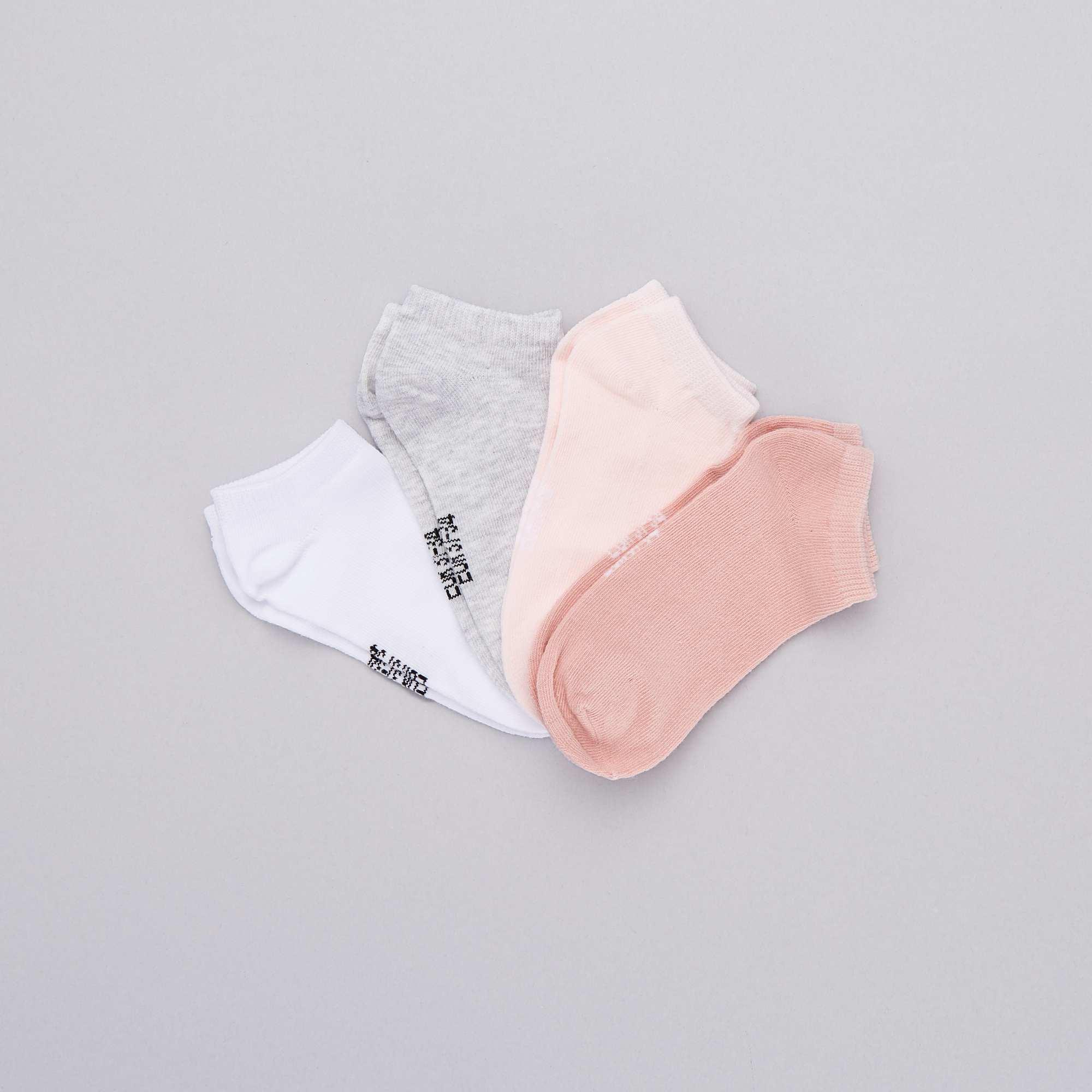 0463926d41b Pack de 4 pares de calcetines invisibles Chica - ROSA - Kiabi - 4