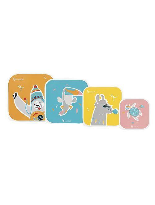 Pack de 4 recipientes 'Badabulle'                             multicolor